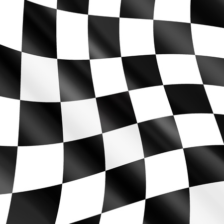 racing checkered flag crossed: Waving checkered racing flag,vector  Illustration