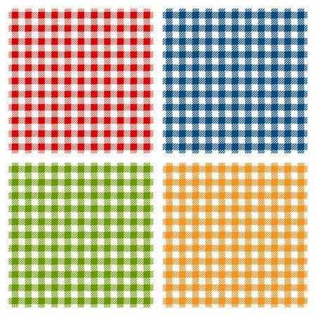 체크 무늬 식탁보 원활한 패턴