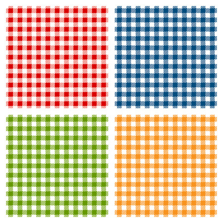 picnic blanket: Checkered tablecloth seamless pattern