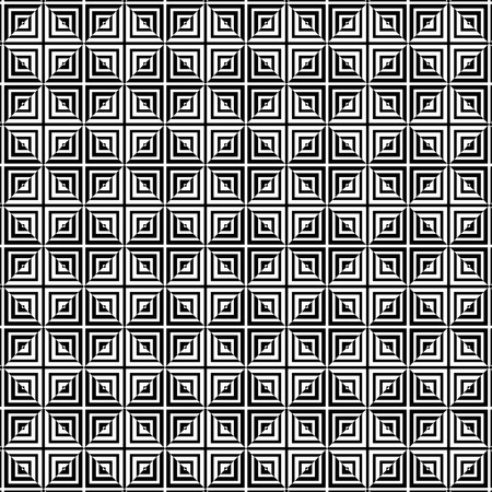 Square tiles seamless pattern black and white