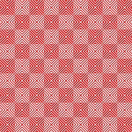 Square tiles seamless pattern red and white Reklamní fotografie - 39368422