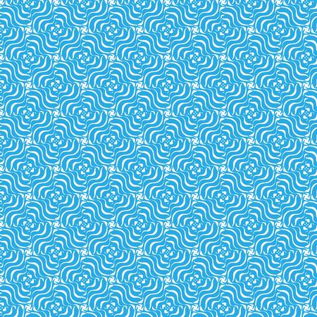 Curly floral seamless pattern blue and white Reklamní fotografie - 39380154