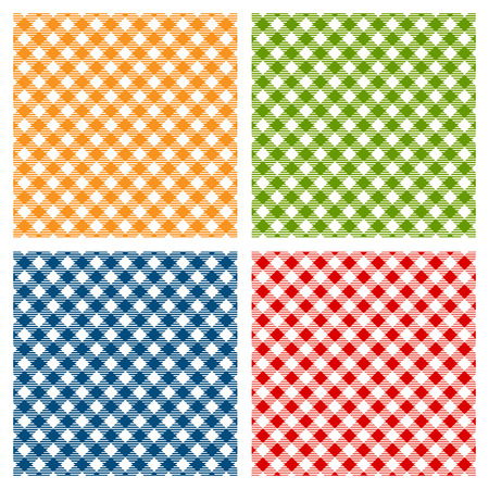 Checkered tablecloth seamless pattern diagonal