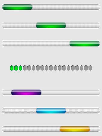 Progress loading icons, downloading bars, preloaders, for web sites design