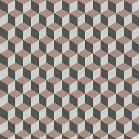 3d cube seamless pattern Illustration