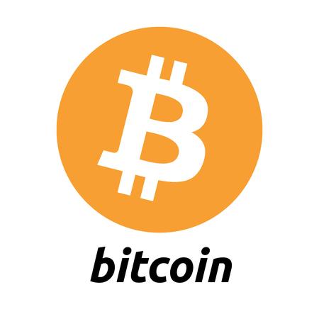 Bitcoin cryptocurrency logo Ilustracja