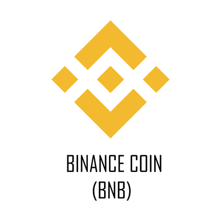 Binance coin (BNB) cryptocurrency logo and symbol