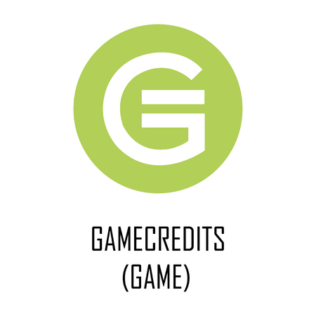 Gamecredits (GAME) cryptocurrency logo and symbol Reklamní fotografie - 102948716