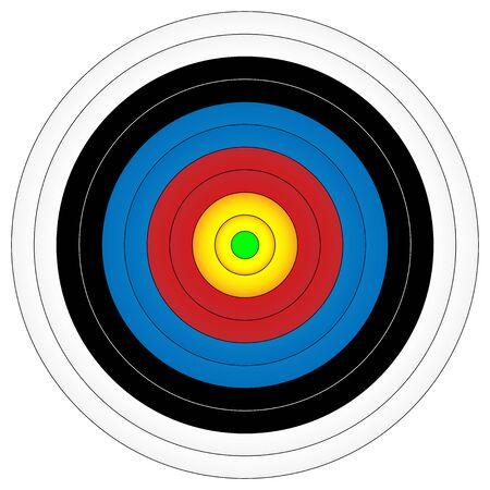 Archery target, vector illustration