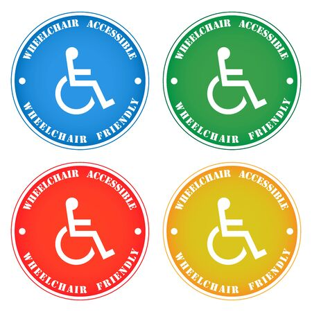 Disabled person wheelchair accessibility sticker note Reklamní fotografie - 134737104