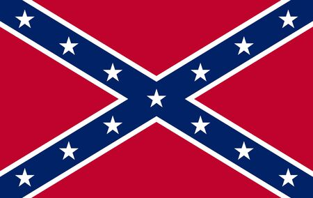 Historical national flag of Confederate States of America from civil war era