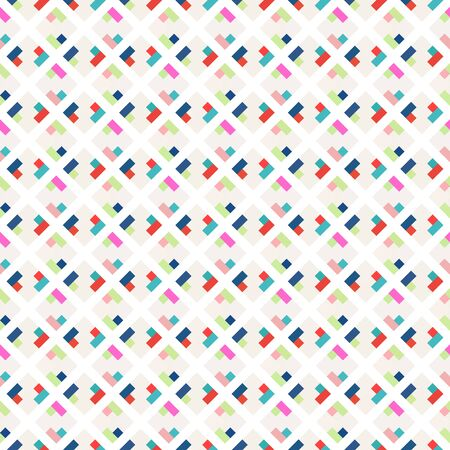 Colorful seamless pattern, diagonally oriented tiles Ilustrace