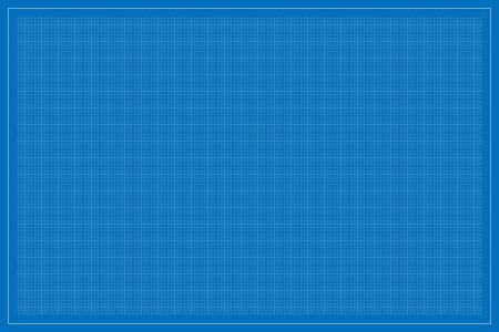 Rectangle (landscape oriented) shape blueprint template, with square subdivisions, vector illustration