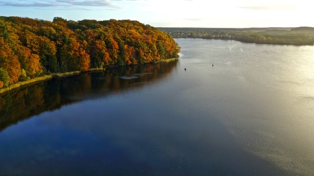 Indian summer view over a lake