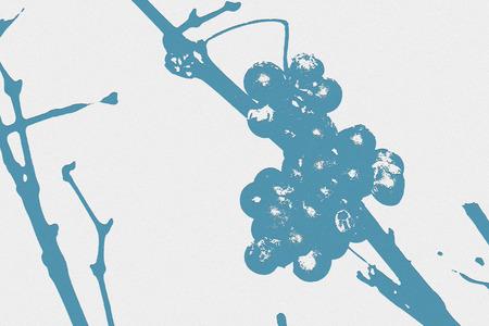 winegrowing: Grapevine - digital embossed