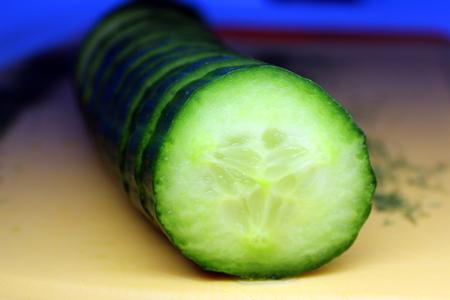 Cucumber sliced ??â €  Stock Photo