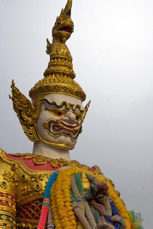 nonthaburi: Thailand Arts Giant Wat Kong Ka Bang Bual Tong at Nonthaburi Thailand_01 Stock Photo