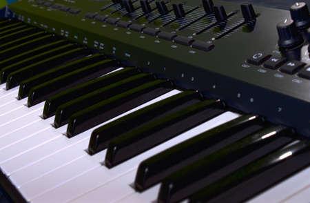 midi: midi keyboard from close angle