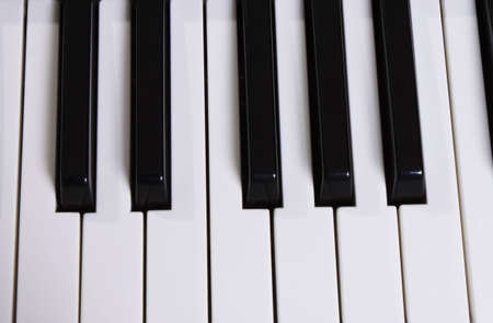 midi keyboard from close angle photo