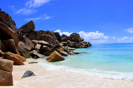 ladigue: Seychelles LaDigue Grande Anse beach