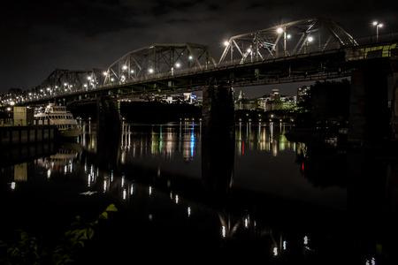 Reflecting Bridge at Night