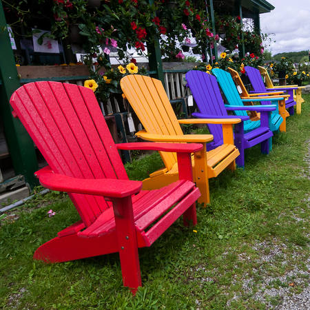 colorful lawnchairs