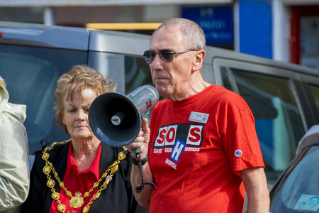 nhs: SOHS Protests in Torrington, Devon