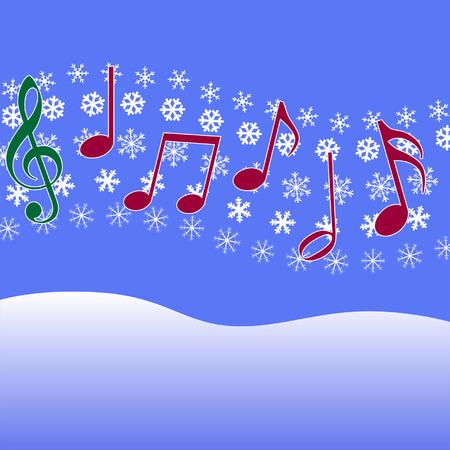 Weihnachts-Musik-Noten in der Luft. Standard-Bild - 2046995