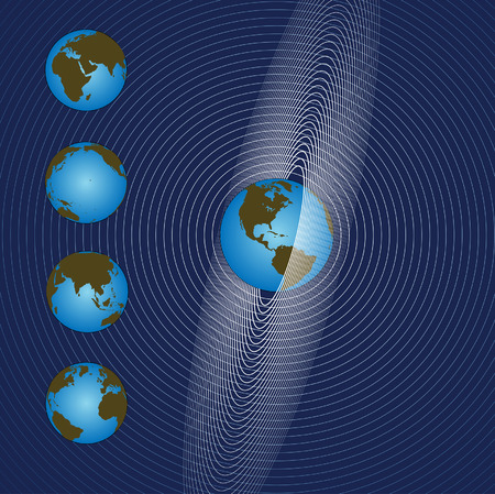 Space Earth Rings or Orbits as Radiation of Global Communication  Ilustração