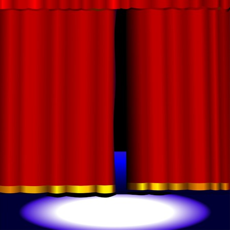 Got something new waiting in the wings? Anything could be behind these vector curtains. Easily open the curtains by horizontally scaling them. Vectores