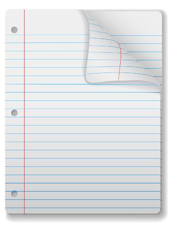 filler: P�ginas de amplia dictamin� el bloc de notas de papel - p�gina curl, gota de sombra y destaque. F�cilmente la inclinaci�n o de otro tipo editarlo.