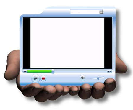 手を押し仮想ソフトウェア メディア プレーヤーは、シンボルのビデオ、マルチ メディアのプレゼンテーション ・設計のための背景を提供します。