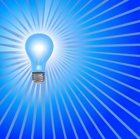 Idea Light Bulb Background in Blue: A super bright light bulb to shine on your bright ideas.