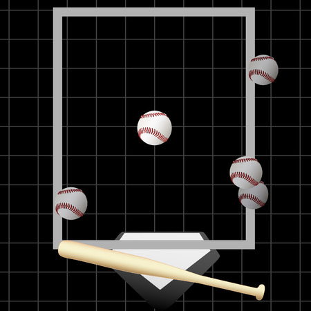 hitter: TV style pitch tracking graphic of an at bat with 5 pitches & a strikeout pitch down the middle of home plate.