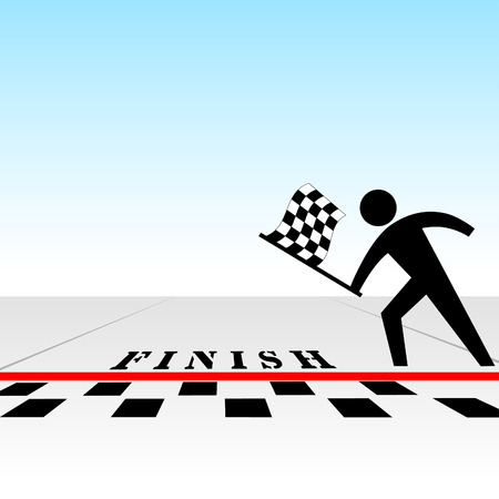From your perspective, you win a race, get the checkered flag at the finish line. Vector