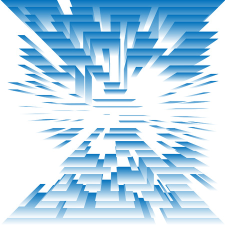 白地青面のレベルの構造の抽象的な背景デジタル技術。