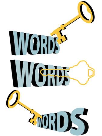検索キーの単語の金キーワード鍵穴 3D シンボルのセットです。  イラスト・ベクター素材