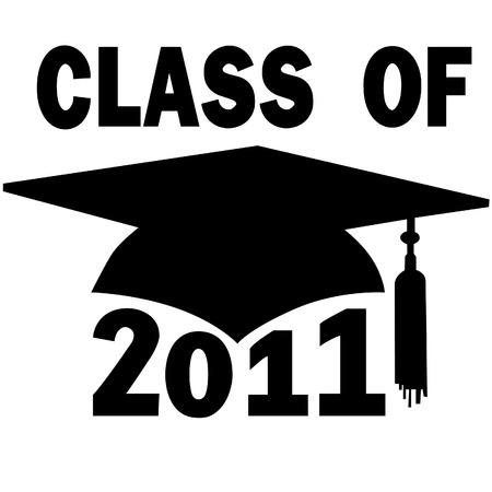 mortero: Una junta de mortero y borla de graduaci�n Cap de Colegio o Escuela Superior de la clase 2011. Vectores