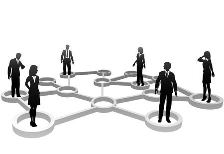 Connected Business People associate in Social or Business Community Network Nodes. Stock Vector - 5571018