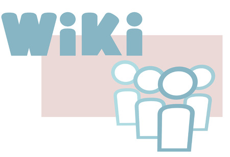 Wiki people symbols as information concept elements in an icon design. Stock Vector - 5663040