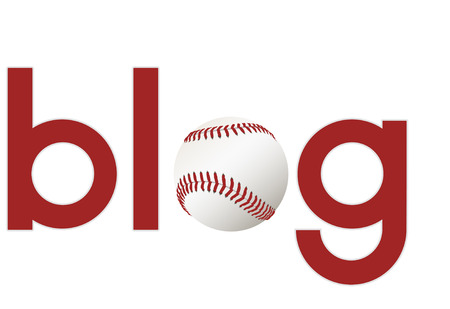 blogosphere: The word blog with a baseball as the O for your sports blogs.