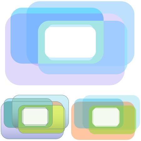 3 角丸四角形の重複抽象的な背景のデザイン、コピー領域の必要性のセットです。