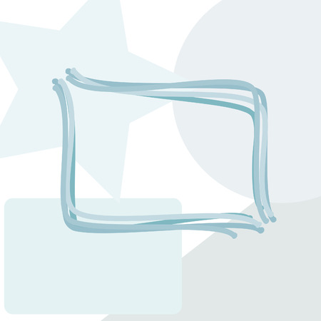 rounded rectangle: A rounded rectangle abstract background with copy space in a window over geometric elements.