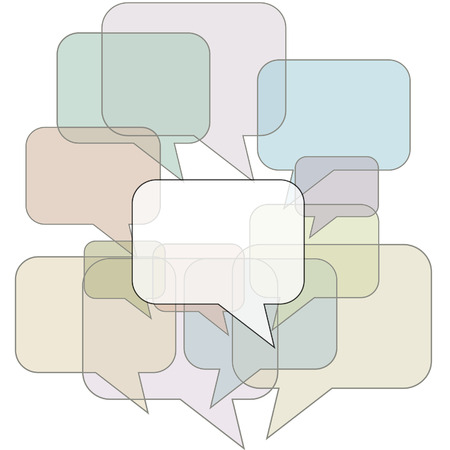 An abstract background of speech balloon copy space ready to communicate your message. Stock Vector - 5817638