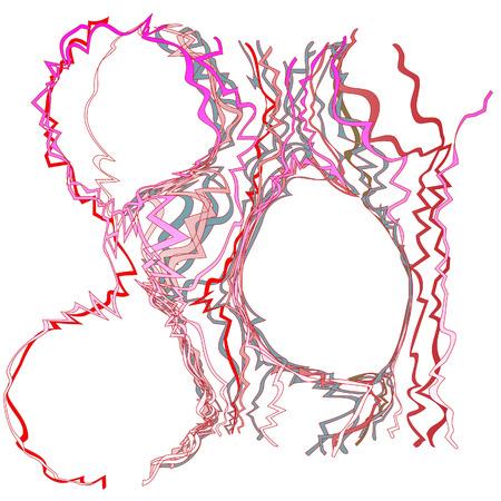 groviglio: Pazzo e selvaggio Confetti Color Tangle Abstract Background Vettoriali