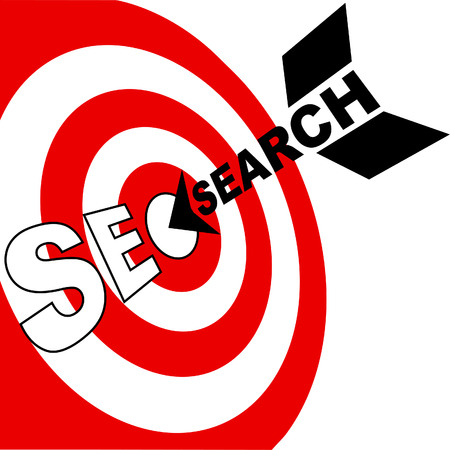 hits: A search engine optimization arrow hits the target market SEO bulls eye