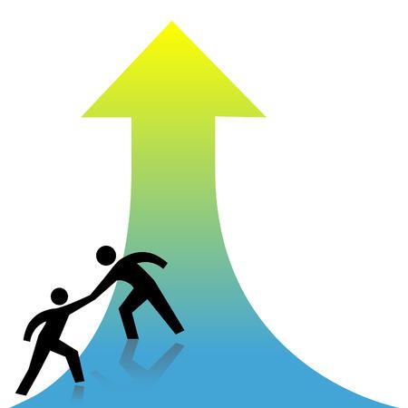 人は友人に上向きの矢印は成功に救いの手を貸します。