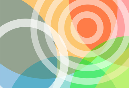 An abstract background of gradient transparency circles in bright colors. Vector