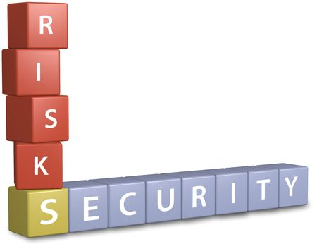 Weigh risks and security to build a stack of financial investment planning. Stock Photo - 7689165