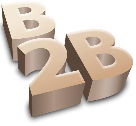 b2b: S�mbolo de B2B para e-commerce y e-business para el negocio  Foto de archivo